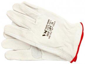 Ochranné celokožené pracovní rukavice VM 3030 (velikost 10,5)
