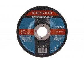Brusný kotouč na kov Festa 22240 (115x6,4x22,2 mm)