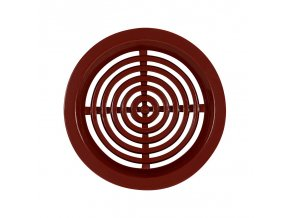 Větrací kruhová mřížka se síťkou Haco (50mm, hnědá, 4 ks)
