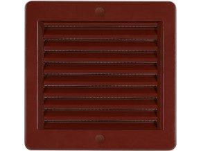 Ventilační mřížka Haco VM hnědá (s rámečkem a síťkou)