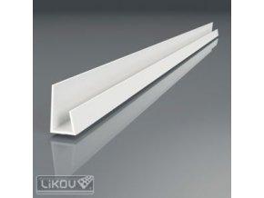 Plastová ukončovací lišta sádrokartónu Likov (12,5 mm / 2,5 m, bílá)