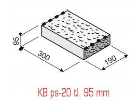 Plotová stříška KB Blok PS-20 (95 mm, přírodní)