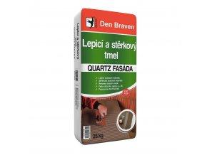 Lepící a stěrkový tmel Den Braven Quartz Fasáda (25 kg)