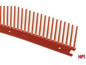 Ochranná jednoduchá větrací mřížka HPI 100x60 cm (červená)