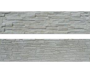 Oboustranná plotová deska ze štípaného kamene Beves (200x50 cm)