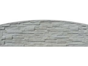 Plotová deska do oblouku ze štípaného kamene Beves (200x50 cm)