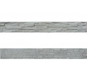 Plotová soklová deska ze štípaného kamene Beves (200x25 cm)