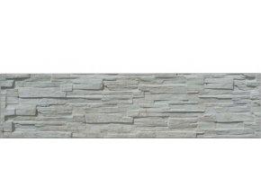 Jednostranná plotová deska ze štípaného kamene Beves (200x50 cm)