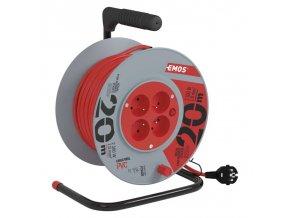 Prodlužovací kabel na bubnu Emos (4 zásuvky, 30 m)