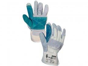 Ochranné rukavice ze štípané kůže Falco (velikost 10)