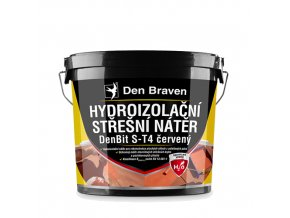 Den Braven Střešní hydroizolační nátěr DenBit S-T4 červený