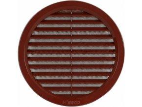 Kulatá ventilační mřížka Haco (75 mm, hnědá)