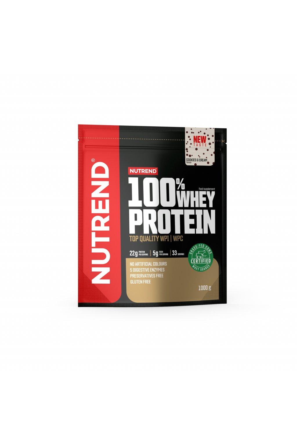 100% Whey protein, 1000g, Cookies & Cream