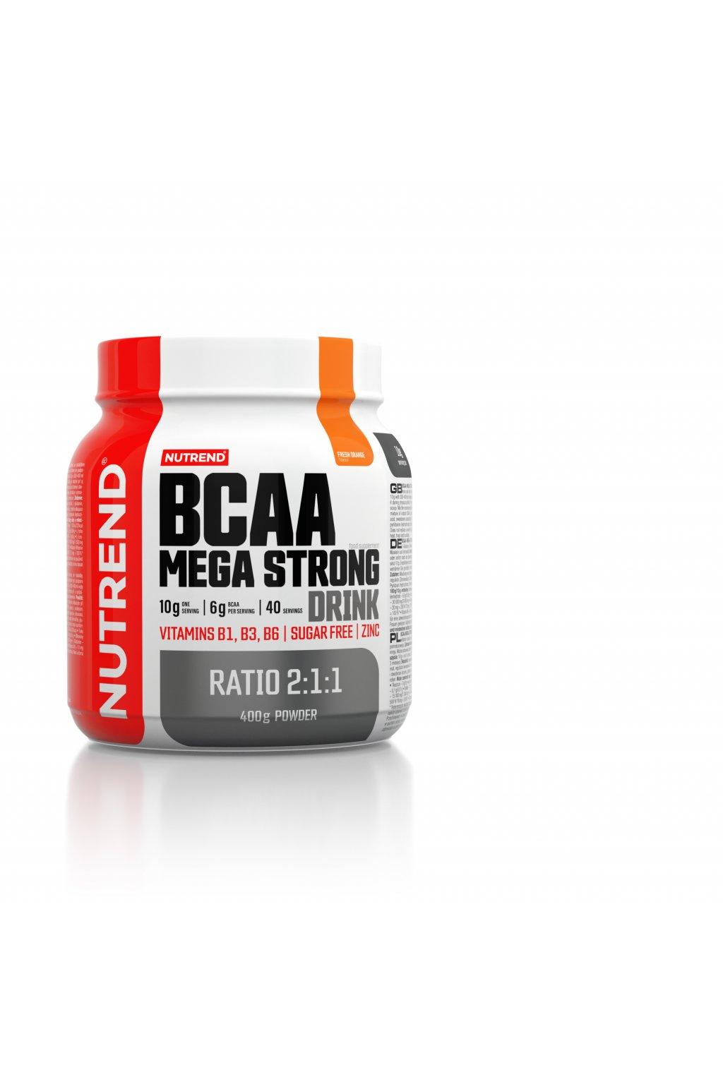 BCAA MEGA STRONG DRINK Pomeranč, 400g