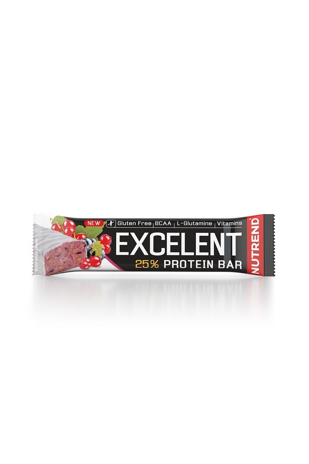 EXCELLENT protein bar černý rybíz s brusinkami, 85g