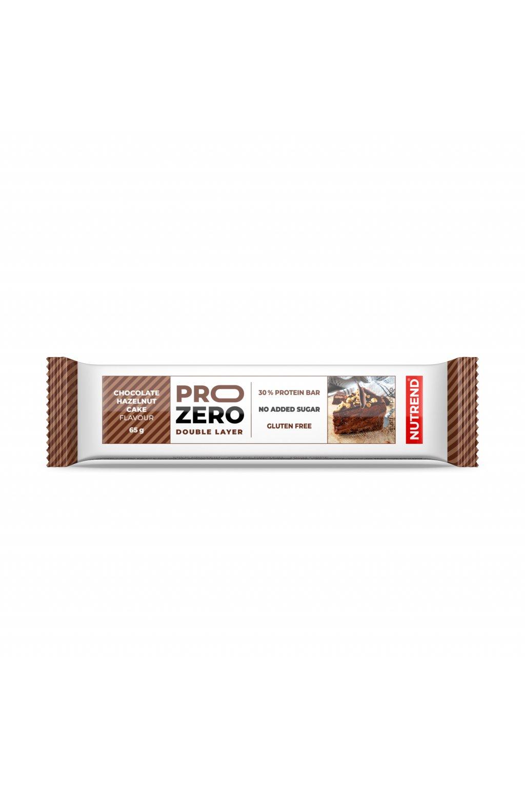PROZERO čokoládovo oříškový koláč, 65g