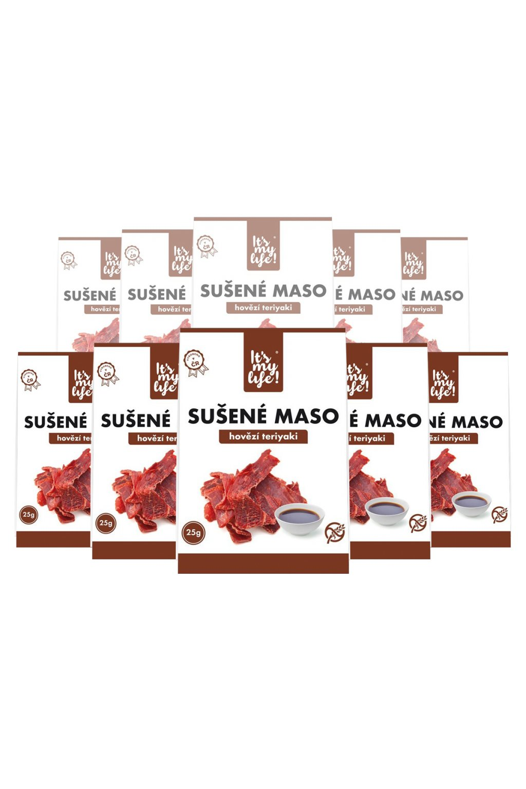 It's my life! Sušené maso hovězí teriyaki 250g (10 balení)