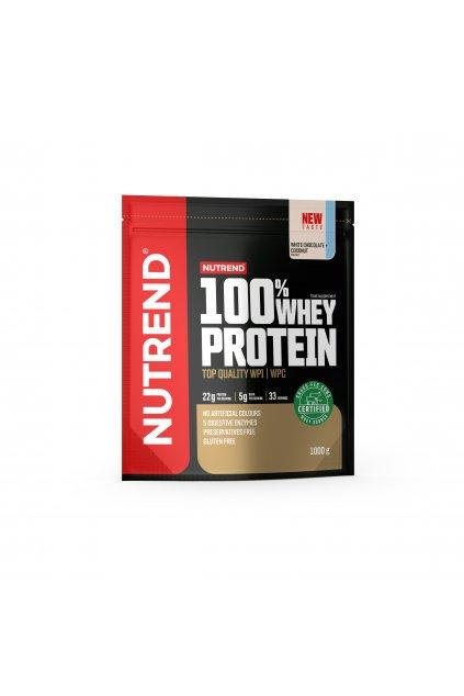 100% Whey protein, 1000g, Bílá čokoláda + kokos