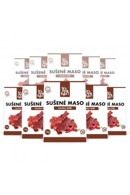 It's my life! Sušené maso hovězí chilli 250g (10 balení)