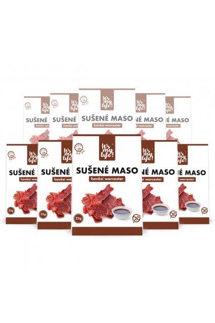 It's my life! Sušené maso hovězí worcester 250g (10 balení)