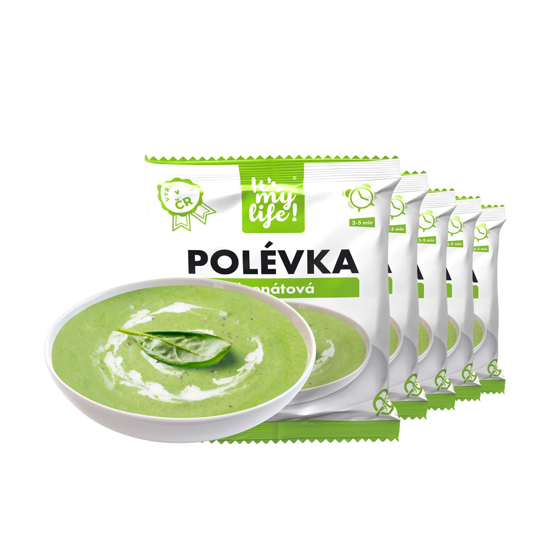 Levně Proteinová polévka špenátová 200g (5 porcí)