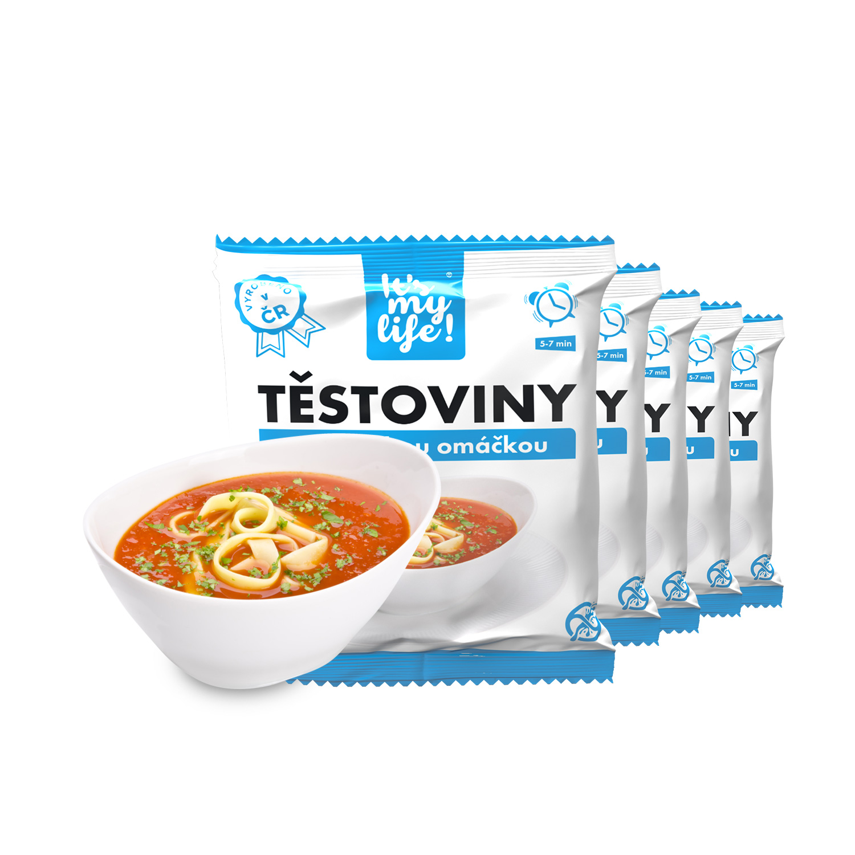 Levně Proteinové těstoviny s milánskou omáčkou (5 porcí)
