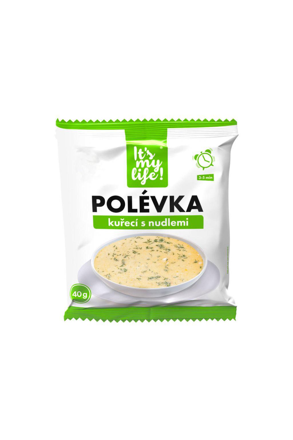 It's my life! Proteinová polévka kuřecí s nudlemi 40g (1 porce)
