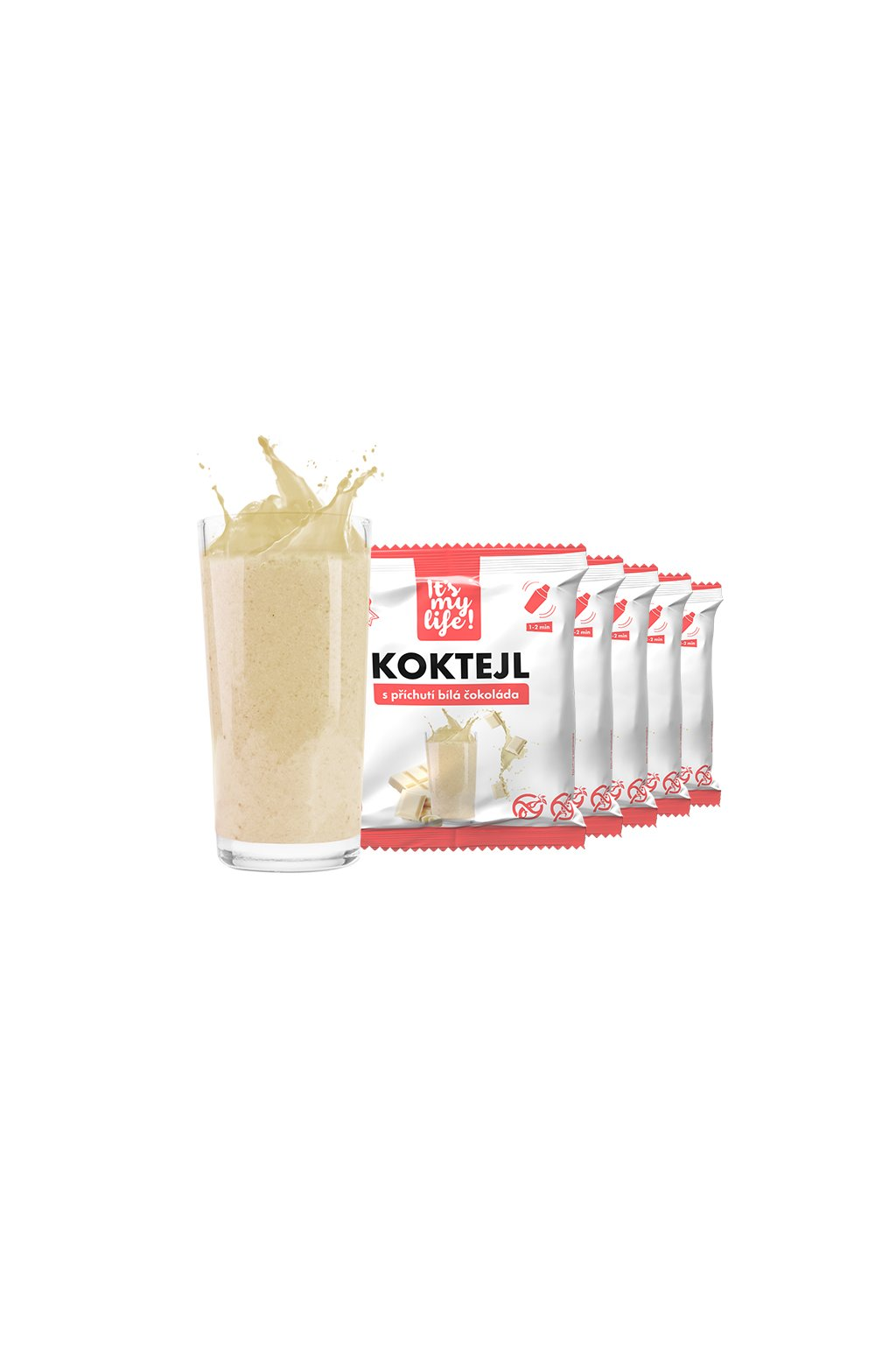 Proteínové koktaily s príchuťou Biela čokoláda, 200g (5porcií)