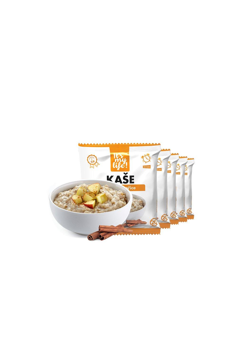 Proteínové kaše s príchuťou Jablko-škorica, 200g (5porcií)