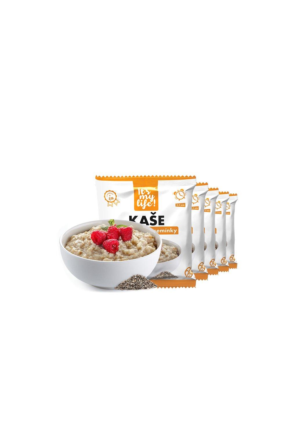 Malinové proteinové kaše s chia semienkami, 200g (5porcií)
