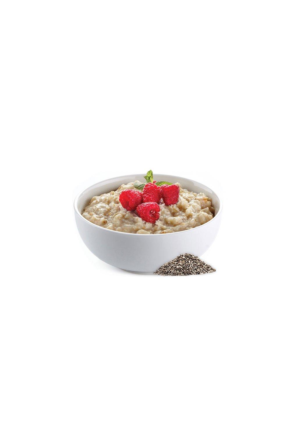 Malinová proteínová kaša s chia semienkami, 40g (1porcia)