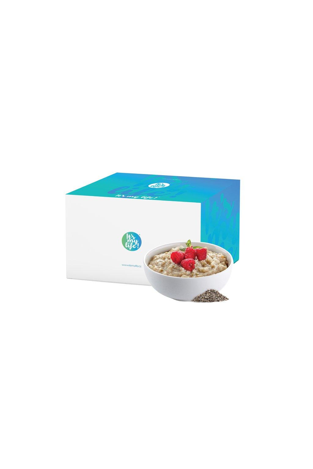 Malinové proteinové kaše s chia semienkami, 800g (20porcií)