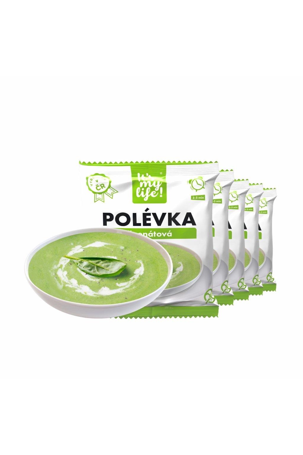 Špenátové proteínové polievky, 200g (5porcií)