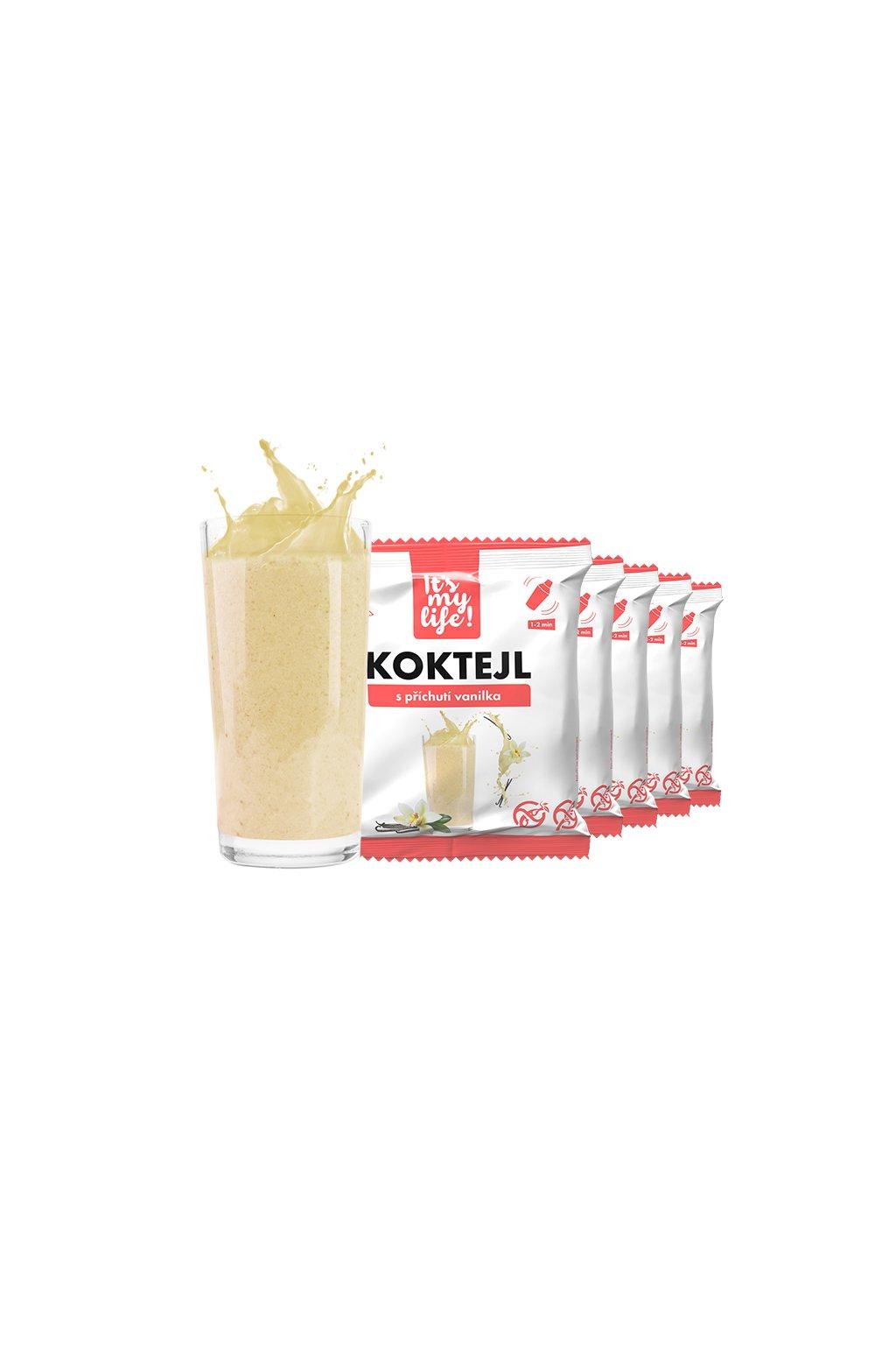 Vanilkové proteínové koktaily, 200g (5porcií)
