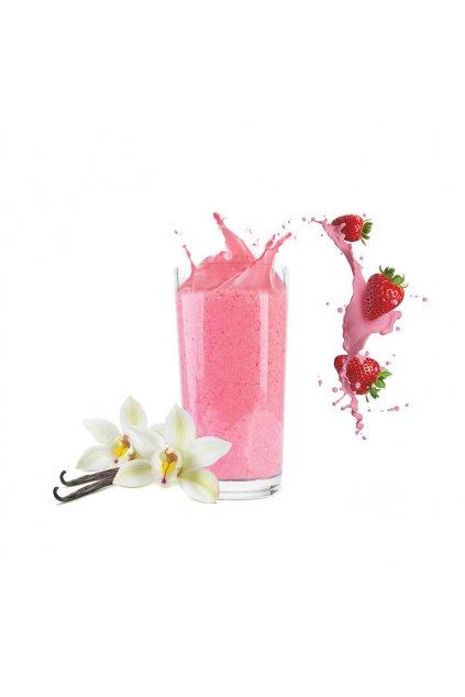 Proteínový koktail s príchuťou Jahoda-vanilka, 40g (1porcia)