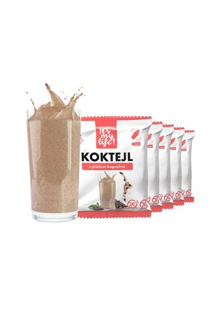 Proteínové koktaily s príchuťou Kapučíno, 200g (5porcií)