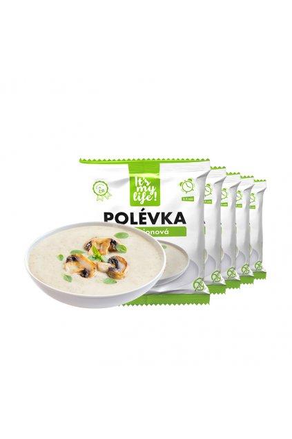 Šampiňónové proteínové polievky, 200g (5porcií)
