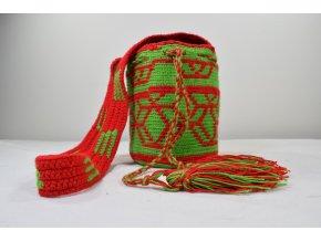 Taška Wayu přes rameno červenozelená