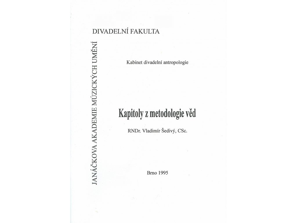 1087 kapitoly z metodologie ved