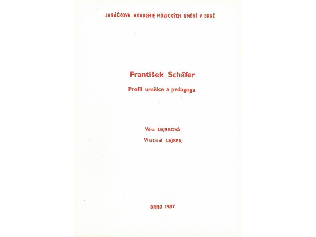 1138 frantisek schafer profil umelce a pedagoga