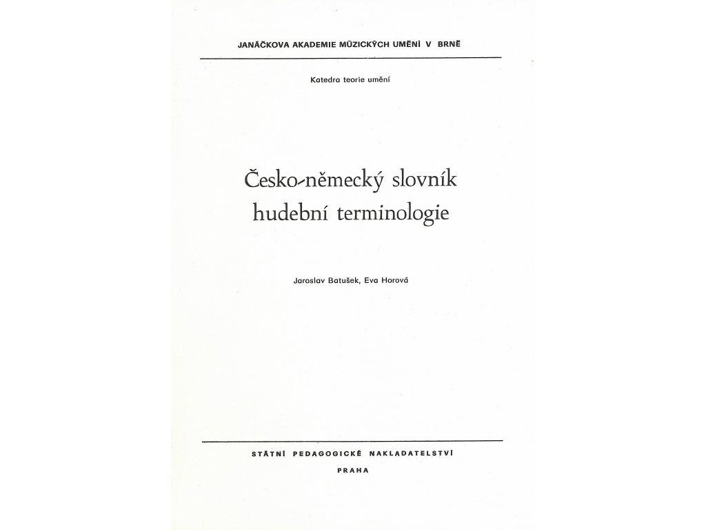 1144 cesko nemecky slovnik hudebni terminologie