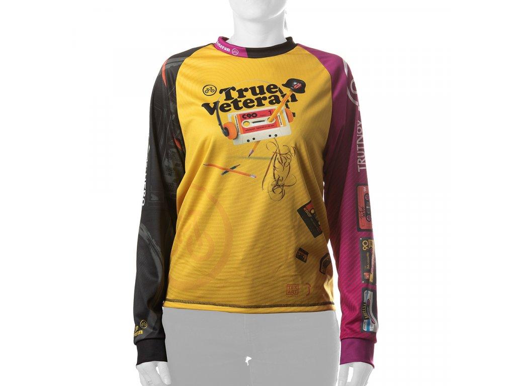 Enduro jersey True Veteran WMN long pink 01