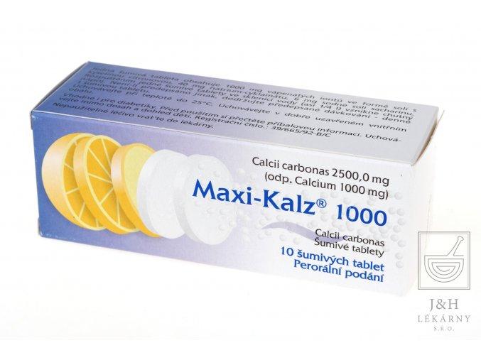 Maxi-Kalz 1000 por.tbl.eff.10x1000mg