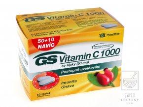 GS Vitamín C 1000 se šípky tbl.50+10
