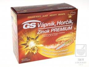 GS Vápník Hořčík Zinek PREMIUM tbl.200 +dárek