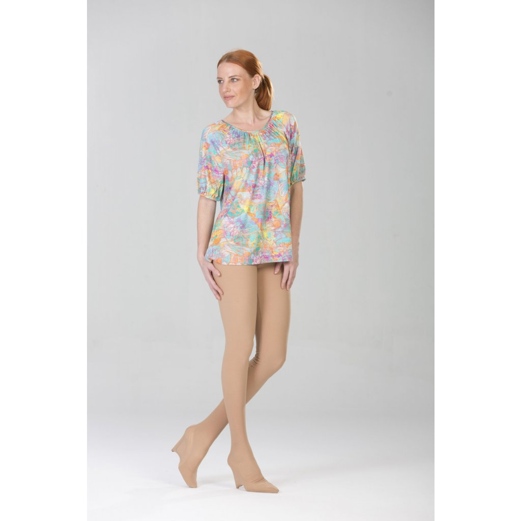 Longer top with short sleeves
