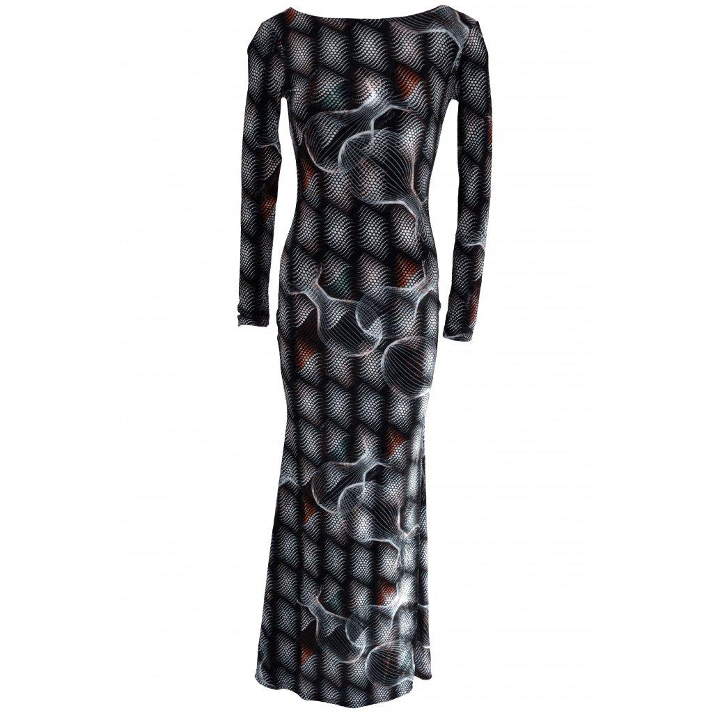 Velvet long MATRIX dress