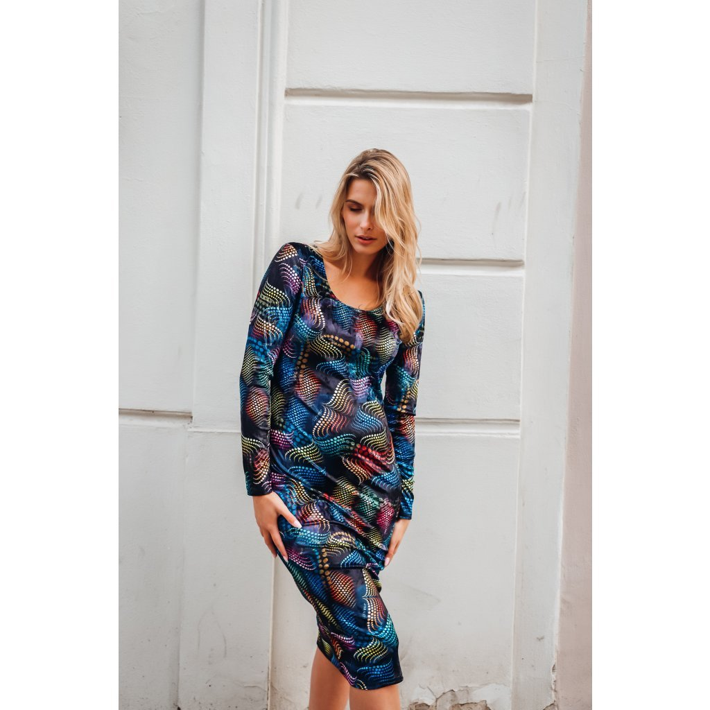 Velvet MATRIX midi dress