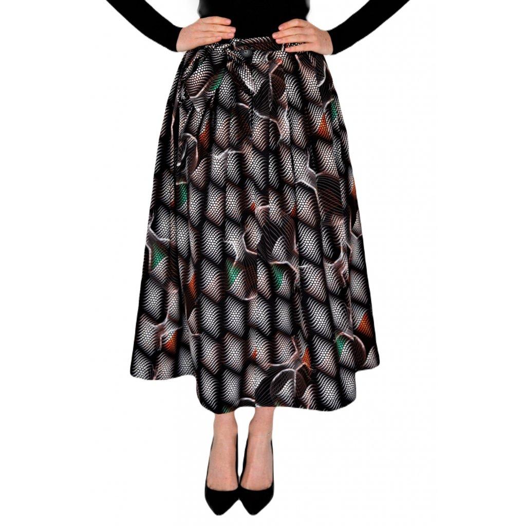 Cotton midi skirt MATRIX