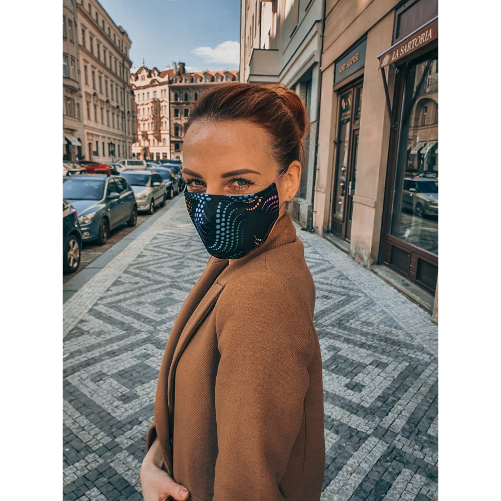 JK Klett breathable delicate silk mask Matrix – colored